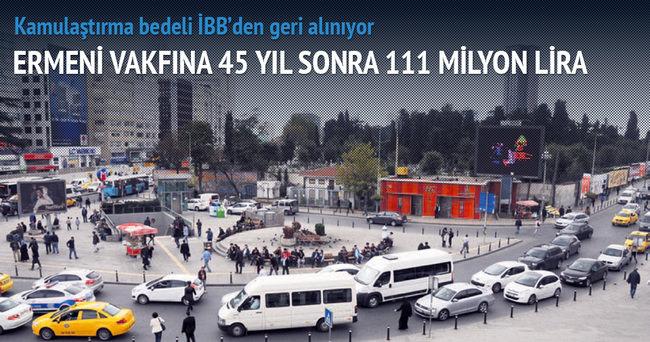 Ermeni vakfına 45 yıl sonra 111 milyon lira