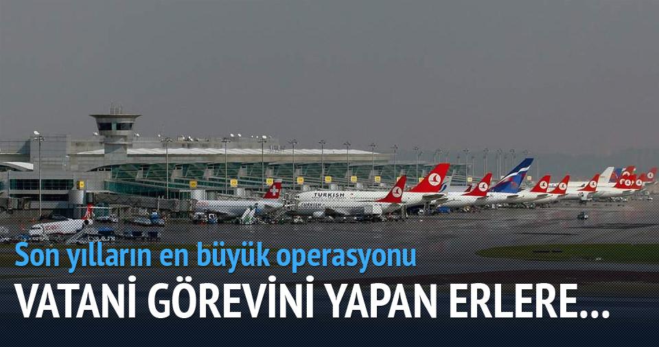 Atatürk Havalimanı'nda büyük telefon operasyonu