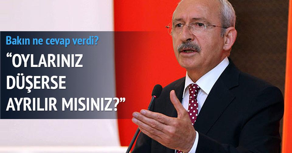 Kılıçdaroğlu'na soruldu: Oylar düşerse ayrılır mısınız?