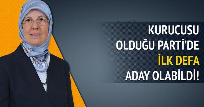 AK Parti'nin kurucusu ilk defa vekil adayı olabildi!