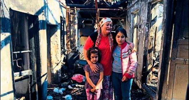 Tartıştığı eşinin evini ateşe verdi