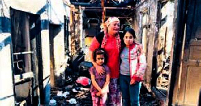 Eşine kızdı 3 evi yaktı