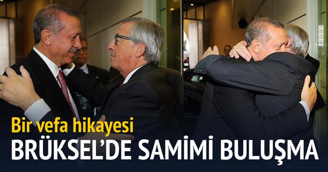 Brüksel'de samimi Erdoğan-Juncker buluşması