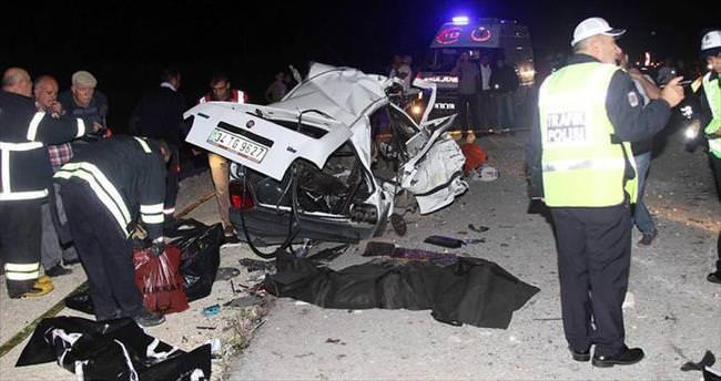 Tekirdağ'da feci kaza: 4 ölü, 4 yaralı