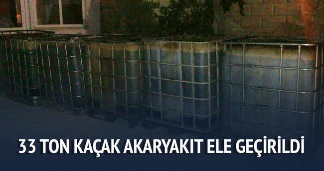 Denizli'de 33 ton kaçak akaryakıt ele geçirildi