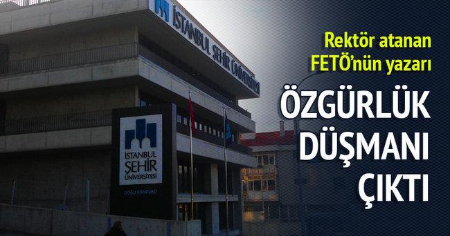 Ülker'in rektör seçtiği FETÖ yazarı başörtüsü düşmanı çıktı