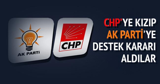 CHP'li vekile kızıp AK Parti'ye destek kararı aldılar