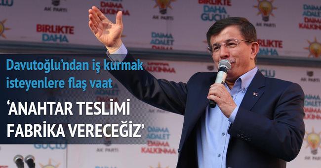 Davutoğlu'ndan Erzurum'da flaş ekonomik vaatler