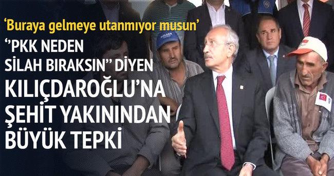 Kılıçdaroğlu'na şehit evinde tepki!