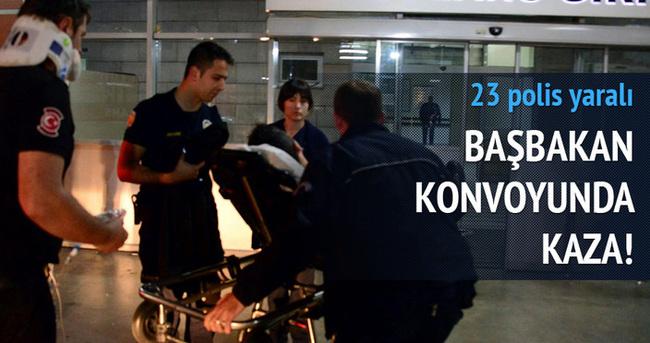 Başbakan konvoyundaki araç kaza yaptı: 23 yaralı