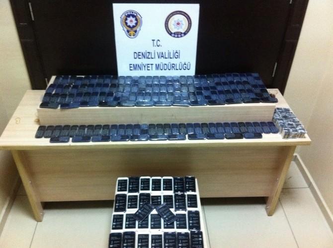 Denizli'de Uyuşturucu Ve Kaçak Cep Telefonu Operasyonu