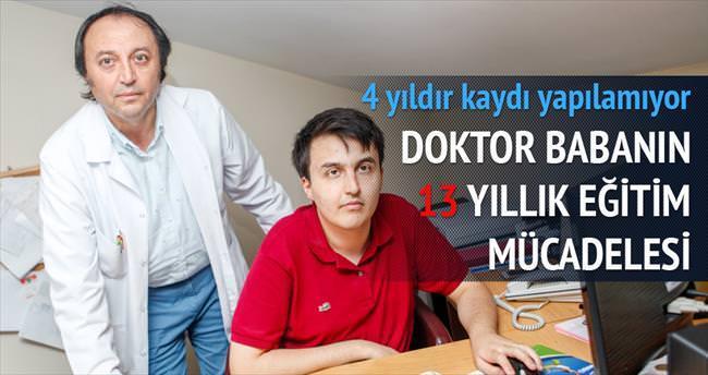 Doktor babanın 13 yıllık eğitim mücadelesi