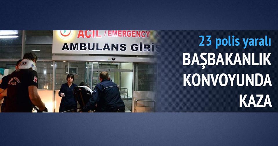 Başbakanlık konvoyundaki araç kaza yaptı: 23 yaralı