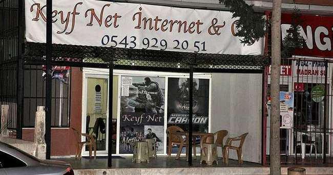 Çocuklarla tartışan internet kafe sahibi tüfekle vuruldu