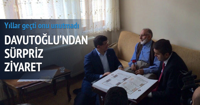 Başbakan Davutoğlu'ndan özel ziyaret