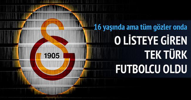 Galatasaraylı genç futbolcu, gelecek vadedenler listesinde