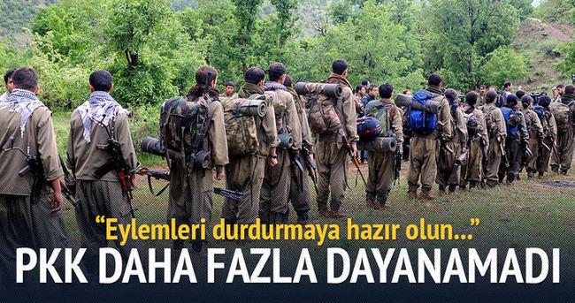 PKK daha fazla dayanamadı!