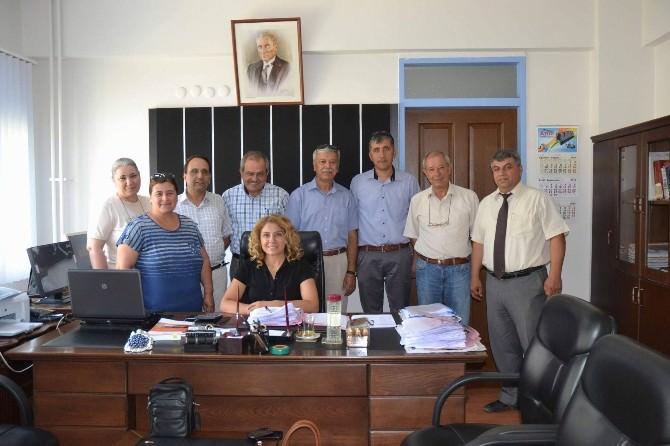 Ortaca'da Meslek Örgütlerinden Mal Müdürü Kutlar'a Ziyaret