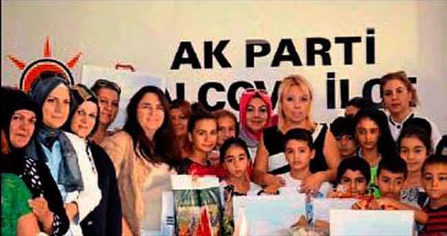 AK kadınlardan 100 çocuğa yardım