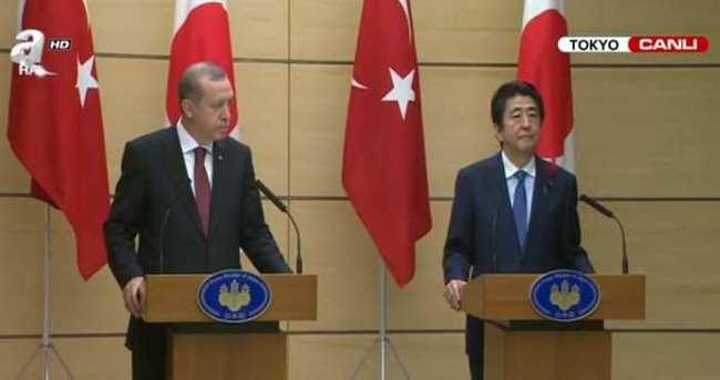Erdoğan ile Abe basın toplantısı düzenledi