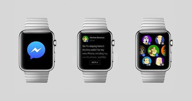 Facebook Messenger'a Apple Watch dopingi