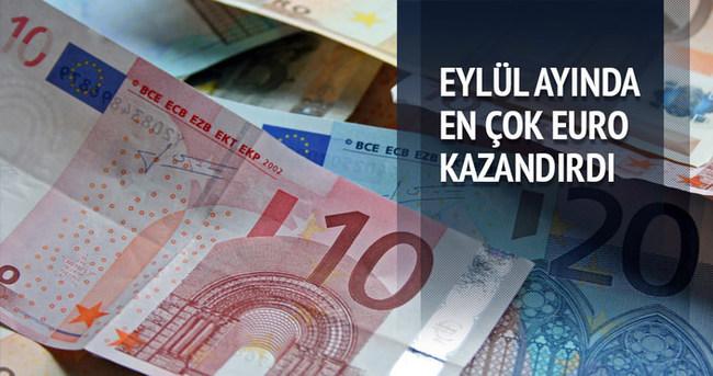 Eylül ayında en çok euro kazandırdı