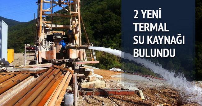 Yalova'nın Armutlu ilçesinde yapılan sondajlarda iki termal su kaynağı bulundu.