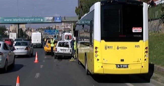 İstanbul'da zincirleme kaza: 7 yaralı