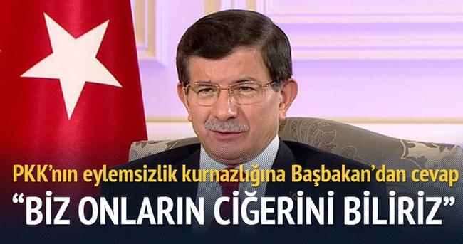 Davutoğlu'ndan PKK'nın eylemsizlik kurnazlığına cevap