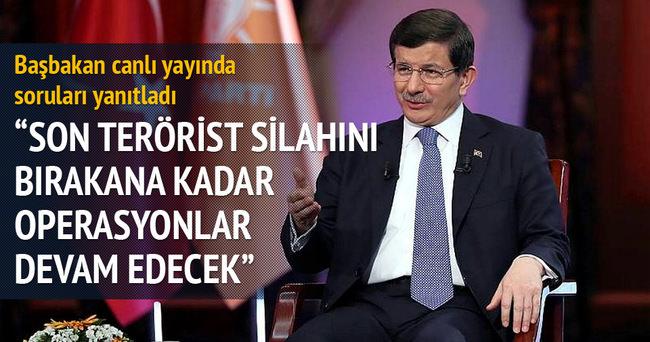 Başbakan Davutoğlu ATV-aHaber ortak yayınında konuştu