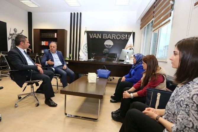 Belediye Eş Başkanlarından Van Barosu'na Ziyaret