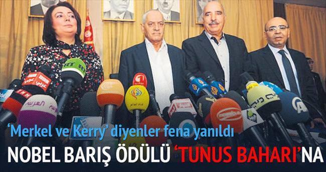 Nobel Barış Ödülü 'Tunus Baharı'na