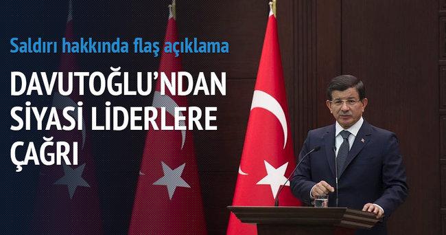Başbakan Davutoğlu: Bu saldırı toplumun her kesiminedir