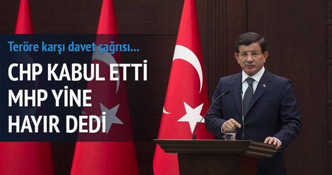 CHP kabul etti, MHP reddetti!