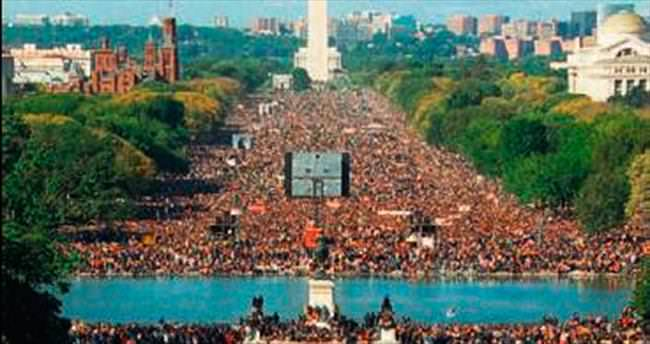 Siyahiler adalet için Washington'da