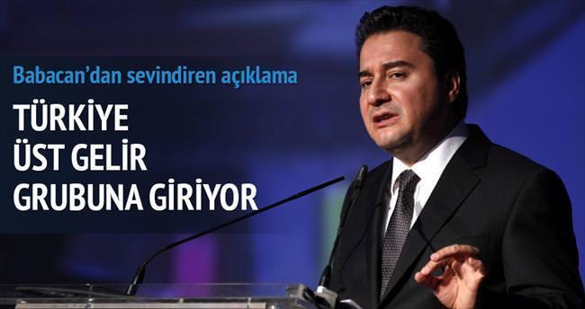 Türkiye üst gelir grubuna giriyor