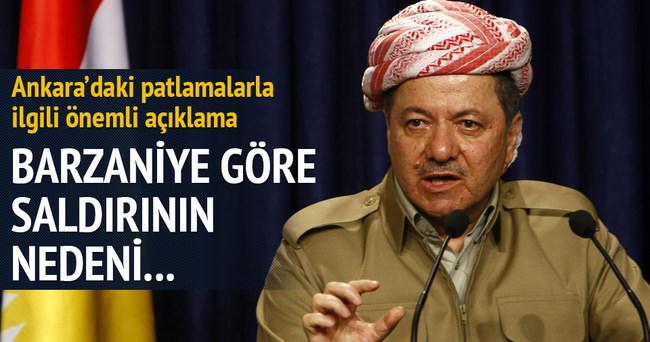 Barzani'den Ankara saldırısına ilk tepki
