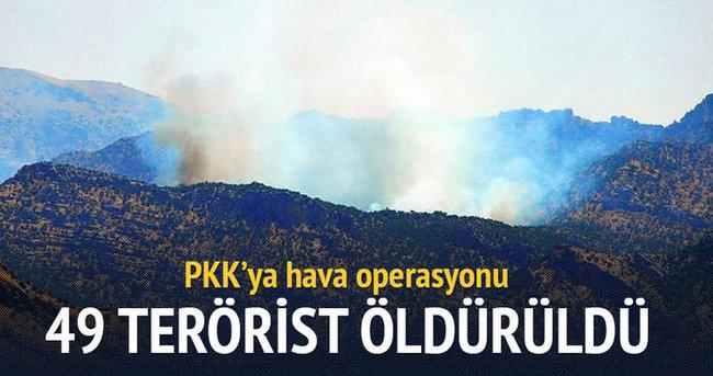 PKK'ya hava operasyonu: 49 terörist öldürüldü