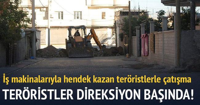 Şırnak'ta hendek kazan teröristlerle çatışma