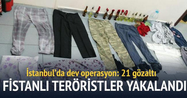 Fistanlı teröristlere operasyon: 21 gözaltı