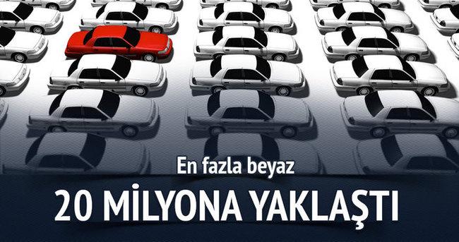 Trafikteki araç sayısı 20 milyona ulaştı