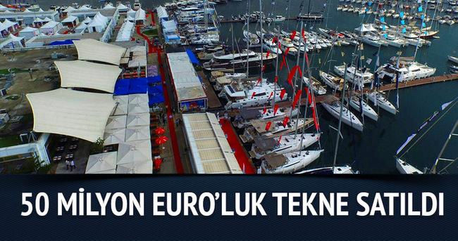 Boat Show'da 50 Milyon Euro'luk tekne satıldı