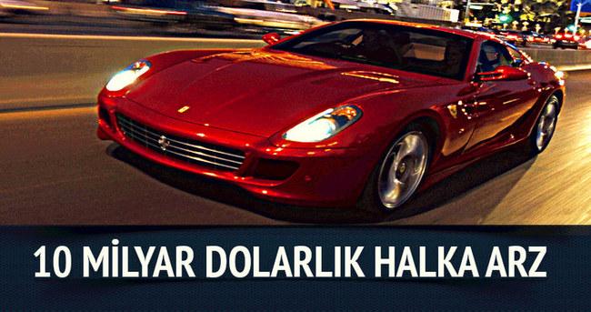 Ferrari'den 10 milyar dolarlık halka arz