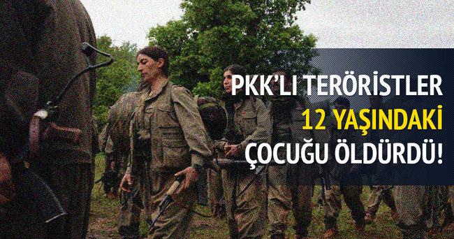 PKK 12 yaşındaki çocuğu öldürdü