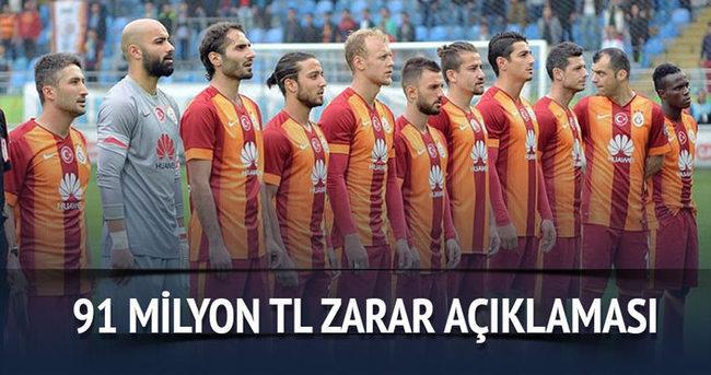 Galatasaray 91 milyon TL zarar açıkladı