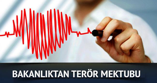 Sağlık Bakanlığından büyükelçilere terör mektubu