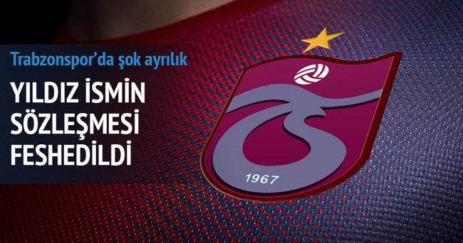 Trabzonspor sözleşmesini feshetti