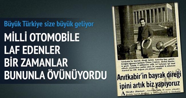 Türkiye'nin yerli oto yapmasına üzülenler oldu