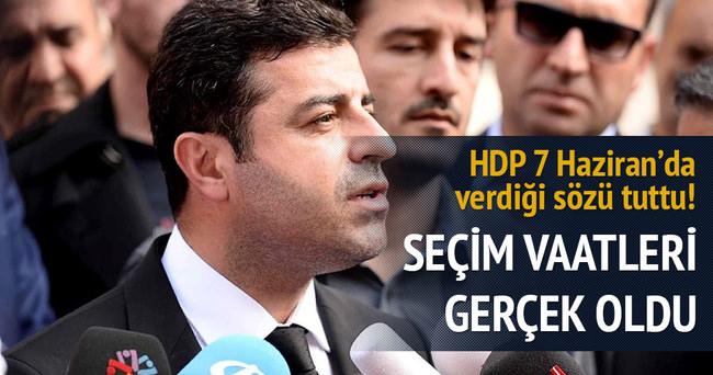 HDP, kanlı seçim vaadini tuttu