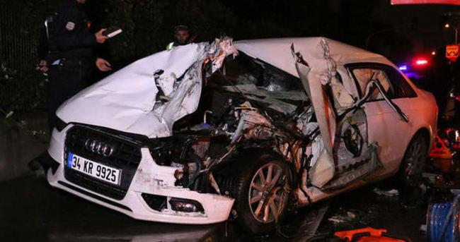 Sarıyer'de feci kaza